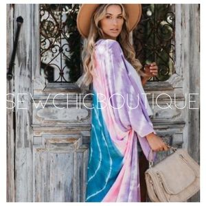 New! Day at the Park Tie Dye Duster Kimono